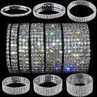 Crystal Rhinestone Stretch Wristband Bracelet Bangle Elastic Wedding Bridal Gift