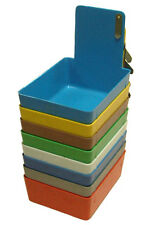 Dental Lab Pans Assorted Colors , with metal clip. Box of 12(bx1350)