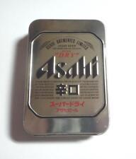 Japan Playing Cards Asahi Beer Metallic Tin Pack Mint 2016 Malaysia Collect