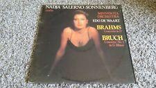 NADJA SALERNO-SONNENBERG Violin Brahms & Bruch Concertos LP Vinyl Record Album