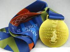 2004 Athens Olympic Gold Medal with Silk Ribbons