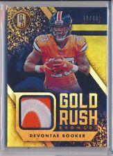 DEVONTE BOOKER - 2018 Gold Standard Gold Rush Name Patch /49 - Broncos SP