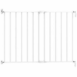 Noma Cancello Sicurezza Estensibile 62-102 cm Metallo Bianco Cancelletto Bimbi