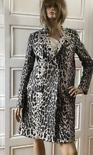 NWT Yves Salomon Gray Leopard Print Goat Fur Coat Fr36 6US $3650 FW17