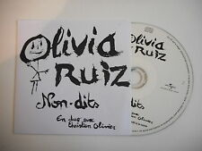OLIVIA RUIZ : NON DITS en duo avec CHRISTIAN OLIVIER [ CD PROMO ] ~ PORT GRATUIT