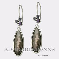 Authentic Lori Bonn Sterling Silver Pizzazz Teardrop Earrings 111510SQ *RETIRED*