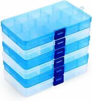 Boîte de Rangement en Plastique Bijoux 15 Compartiments Ajustables Organisateur