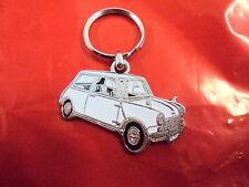 porte-clef porte-clés Austin Mini 1000 850 Morris blanc key ring Schlüsselring