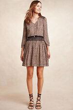 NWT Anthropologie Daytripper Dress, by Vanessa Virginia - neutral motif, size S