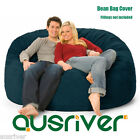 New Navy Suede D150cm Large Bean Bag Cover Luxury Reading Relaxing Movie Couch