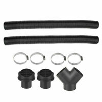 75mm Heater Pipe Duct T Piece Warm Air Outlet Vent Hose Clips for Webasto Diesel