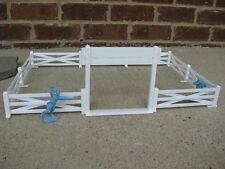 Marx Western Farm Ranch Fence Gate 1/32 54MM Cowboys Playset Toy Diorama White