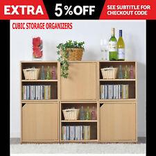 Wooden Bookcase Shoe Rack Cubic Storage Organiser Box Holder Shelf Cabinet 6 3 1