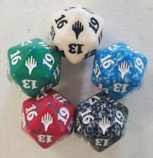 5 Planeswalker Symbol Dice Complete Set Spindown Life Counter 20 Sided MTG D20