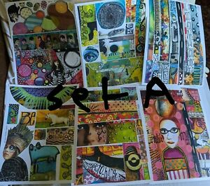 NEW!!! Ex-Rare!!! TEESHA MOORE ZETTIOLOGY Collage Printed Sheets Sets A-H, J&K