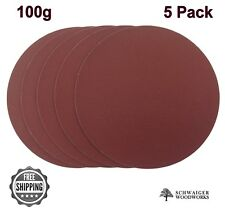 "12"" inch Sanding Disc, 100 grit, 5 Pack, Peel & Stick, High Quality AL Oxide"
