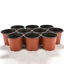Lot 10Pcs Nursery Plastic Round Saucer Pots Gallon Flower Plant Container 9cm