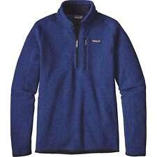 PATAGONIA Men's BETTER SWEATER 1/4 Zip Fleece Jacket Blue 25522 NWT XL