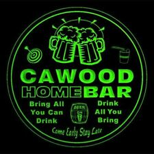 4x ccq07474-g CAWOOD Home Bar Ale Beer Mug 3D Etched Drink Coasters