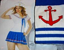 FLEET DREAMS Sexy Sailor Navy Costume LOT Adult Womens XL 16-18