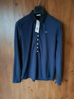 GENUINE LACOSTE Navy Blue Polo T-Shirt Top Long Sleeve UK 10-12 / 38-40 - NEW