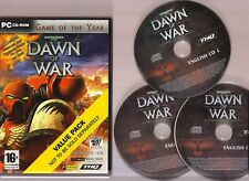 WARHAMMER 40000 DAWN OF WAR GAME OF THE YEAR EDITION FOR THE PC. SUPERB RTS!!