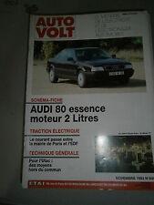 Auto volt revue technique auto eléctricité RTA Audi 80 essence moteur 2 litres