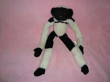 "Wild Republic Hanging Black & White Monkey Plush 1999 18"""