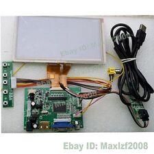 "HDMI+VGA+2AV+Controller board + 6.5"" AT065TN14 Lcd panel + Touch Screen 800*480"