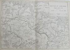 Old Antique Map Battle Plan Carignan c1872 France Franco Prussian War by Hosier