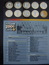 PANINI Bild Chek-Liste Card Fussball WM 06  DFB Nationalmannschaft