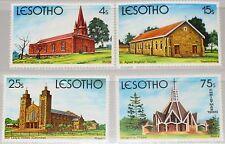 LESOTHO 1980 319-22 314-17 Religion Christmas Weihnachten Kirchen Churches MNH