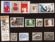 POLOGNE 13 timbres  oblitérés  sujets divers  182T2