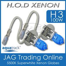 12V HOD XENON H3 100W 5500K SUPERWHITE HEADLIGHT CAR/AUTO/4x4 WHITE BULBS/GLOBES