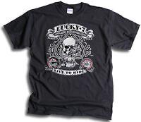 Biker Ace USA Lucky 7 Seven Live To Ride Mens T Shirt Sm- 3XL