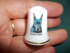 vintage Great Dane Dog Collectible ceramic Thimble figurine Lim.Edition