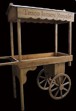 SOLID WOOD market barrow sales display trading stall supermarket point of sale