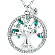 Swarovski Crystals Necklace with Simulated Emerald Birthstone Mother's Day Gifts