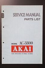 AKAI ac-3800 ORIGINAL SERVICE MANUAL/Parts list/schéma! o49