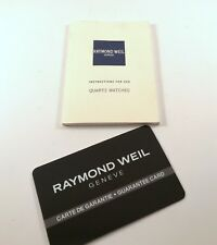 Raymond Weil Operational Manual for Quartz Watches .