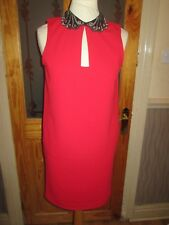 NEXT Red Black Embellished Tunic Dress Size 8 EUR 36 With Tags