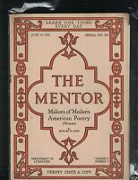 Mentor Magazine #205 June 15 1920 Makers of Modern American Poetry Women