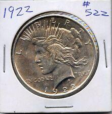 1922 $1 Silver Peace Dollar. Uncirculated. Lot #651