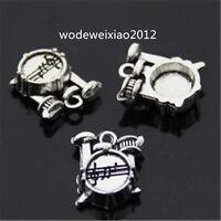 10pc Retro Tibetan Silver Charms Shelf drum Jewelry Accessories wholesale JP961