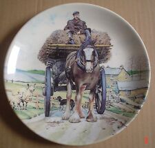 Wedgwood Danbury Mint Collectors Plate SPRING CARTING From WORKING HORSES