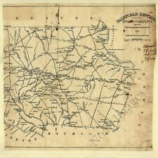 Fairfield District Sc c1825 repro 24x24