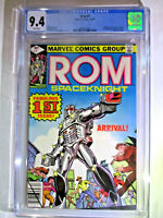 Rom Spaceknight #1 CBCS 9.4 Near Mint+ White Pages 1st Appearance Marvel Comics