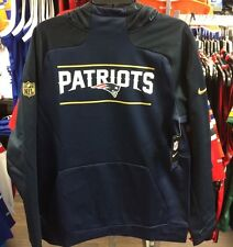 New England Patriots Sideline Gold Logo Pullover Performance Hoodie NFL XXL