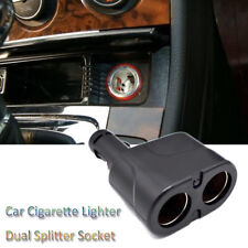 2 Ways Car Cigaret Lighter Dual Spliter Socket DC 12V Power Charger Adapter---