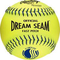 """Rawlings Dream Seam USSSA 12"""" Fastpitch Softball C12BYLUC"""